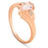1/2ct Morganite & Diamond Ring 14K Rose Gold (H/I, I2-I3)