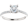 5/8ct Diamond Engagement Ring Twist Claw Prong 14k White Gold Round Cut ((G-H), SI(1)-SI(2))
