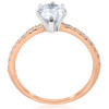 1 1/10 ct Pear Shape Diamond Engagement Ring 14k Rose Gold ((G-H), SI(1)-SI(2))