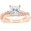 1 1/6ct Princess Cut Diamond Infinity Engagement Ring ((G-H), SI(1)-SI(2))