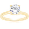 1 ct Round Diamond Solitaire Engagement Ring 14k Yellow Gold ((G-H), SI(1)-SI(2))