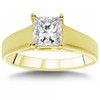 1 CT Princess Cut Diamond Solitaire Engagement Ring 14k Yellow Gold (J, SI(1)-SI(2))