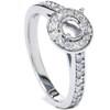 1/3ct Halo Diamond Engagement Ring Setting 14K White Gold Semi Mount (G/H, SI1-SI2)