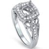 1/4ct Cushion Halo Diamond Engagement Ring Setting 950 Platinum (G/H, SI1-SI2)