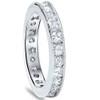 1 5/8ct Princess & Round Cut Diamond Milgrain Eternity Ring 14K White Gold (G/H, SI2-I1)
