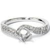 1/5ct Diamond Twist Engagement Ring Setting 14K White Gold (G/H, I1)