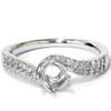 1/5ct Diamond Twist Engagement Ring Setting 14K White Gold (G/H, I1)