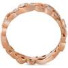 1/4ct Diamond Eternity Ring 14k Rose Gold Scroll Vintage Leaf ((G-H), SI(1)-SI(2))