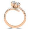 1 cttw Diamond 2 Stone Forever Us Engagement Anniversary Ring 14k Rose Gold (I/J, I1-I2)