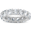 5 Ct Lab Grown Created Diamond Eternity Ring Womens Wedding Band 14K White Gold (F, VS(1)-VS(2))