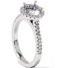 1/3ct Pave Diamond Engagement Semi Mount Ring 14K White Gold (G/H, I1)