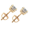 1 1/2 ct Round Round Diamond Studs with Screw Backs 14k Yellow Gold Enhanced ((F), SI(1)-SI(2))