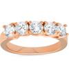 1 1/2ct Diamond Five Stone Trellis Wedding Ring Womens Anniversary Band (H/I, I1-I2)
