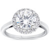 1 3/4ct Halo Plain Shank Diamond Engagement Ring 14k White Gold ((G-H), SI(1)-SI(2))