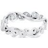 3/8ct Diamond Eternity Ring 14k White Gold Womens Stackable Wedding Band ((G-H), SI(1)-SI(2))