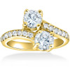 1 1/2 cttw Forever Us 2-Stone Diamond Engagement Forever Us Ring 14k Yellow Gold (G/H, I1-I2)
