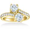 1 1/2 cttw Forever Us 2-Stone Diamond Engagement Forever Us Ring 14k Yellow Gold (G/H, I1-I2)