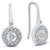 "1/3ct Pave Diamond Vintage Halo Earrings 10K White Gold 1/2"" Tall (H/I, I2)"