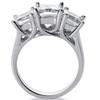 1 1/2ct Three Stone Diamond Ring 14K White Gold (H/I, SI)