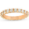2ct Diamond Eternity Ring 14k Yellow Gold Womens Anniversary Band (I/J, I2-I3)