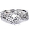 1/3ct Twist Diamond Engagement Wedding Ring Mount Set 14K White Gold (G/H, I1)