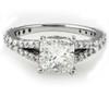 2 1/2ct Cushion Diamond Engagement Ring 14k White Gold ((G-H), SI(1)-SI(2))