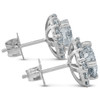 2 1/5 Ct Halo Diamond Studs 14k White Gold 10mm (G-H, SI)