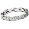 3/8ct Diamond Vintage Eternity Ring Stackable Womens Wedding Band 14k White Gold (H/I, I1)