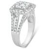 1 3/8ct Square Framed Diamond Halo Engagement Ring 10k White Gold (G/H, I1-I2)