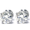 1.33ct Diamond Studs 14K White Gold Screw Back Enhanced (G-H, SI)