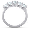 1 Ct Five Stone EX3 Lab Grown Diamond Wedding Ring 14k White Gold EX3 Lab Grown (((G-H)), SI(2)-I(1))