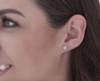 1 1/4 cttw Diamond Studs 14K White Gold IGI Certified Earrings (I-J, I2-I3)