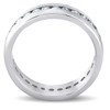 1 1/2 ct Mens Channel Set High Polished Comfort Fit Wedding Band Eternity Ring (G-H, I1-I2)