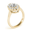1 1/2 Ct Marquise Diamond Halo Engagement Ring 14k Yellow Gold (H/I, I1)