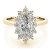 1 1/2 Ct Marquise Diamond Halo Engagement Ring 14k Yellow Gold (H/I, I1)