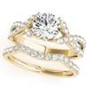 1 1/4 Ct Diamond Engagement Ring Wedding Band Set 14k Yellow Gold (H/I, I1-I2)