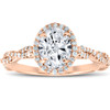 1 1/4 Ct Oval Halo Diamond Infinity Engagement Ring 14k Rose Gold (G/H, SI(1)-SI(2))