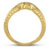 1/5 Ct Diamond Curved Wedding Engagement Ring Enhancer Band 14k Yellow Gold (G/H, I1-I2)