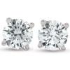 1/2Ct Diamond Screwback Studs Lab Grown Diamond Eco Friendly 14K White Gold (I, VS)
