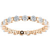 1 Ct Diamond Bar Set Eternity Wedding Ring in 14k Rose Gold (G/H, I1-I2)