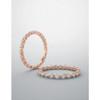 1 Ct Diamond Bar Set Eternity Wedding Ring in 14k Rose Gold (G/H, I1-I2)