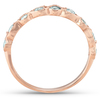 1/3Ct Diamond Wedding Ring Womens Stackable 14k Rose Gold Anniversary Band (G/H, I1-I2)