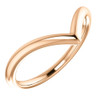 Curved V Shape Solid Contour Guard Wedding Band in 14k White Yellow or Rose Gold