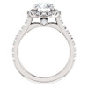 2 1/2 Ct Halo Diamond Round Cut Engagement Ring 14k White Gold (G, SI2-I1)