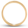 14k White Yellow or Rose Gold Mens Hand Carved Brushed Wedding Band
