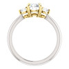 1 Ct Round Diamond Three Stone 14k Gold Two Tone Engagement Anniversary Ring (G, SI2-I1)