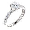 1 Ct Round Diamond Engagement Ring 14k White Gold Prong Set Single Row (H, I1-I2)