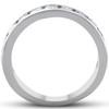 1 1/2 Ct Diamond Wedding Ring Channel Set Half Eternity Womens Band White Gold (H, I1)