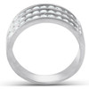 1 Ct TDW Three Row Channel Set Diamond Wedding Ring 10k White Gold Band (H, I1-I2)