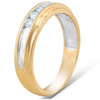 1/4 Ct Diamond Mens Wedding Ring 10k Yellow Gold (H, I1-I2)